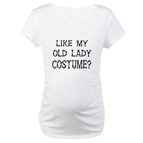 Old Lady Costume Maternity T-Shirt