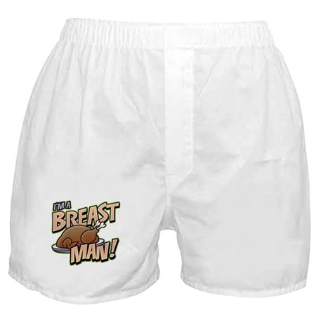 Funny Thanksgiving Breast Boxer Shorts
