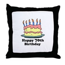 Happy 70th Birthday Throw Pillow