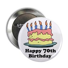 "Happy 70th Birthday 2.25"" Button (100 pack)"
