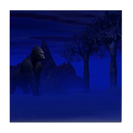 Night Gorilla Tile Coaster