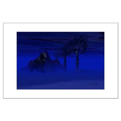Night Gorilla Large Poster