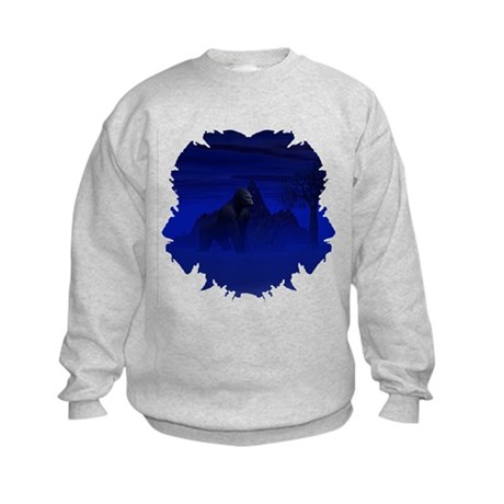 Night Gorilla Kids Sweatshirt