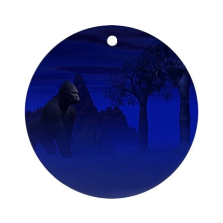 Night Gorilla Ornament (Round)