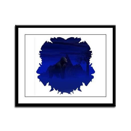 Night Gorilla Framed Panel Print