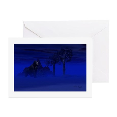 Night Gorilla Greeting Cards (Pk of 20)