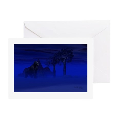 Night Gorilla Greeting Card