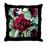 Rich red flower #1 - Throw Pillow