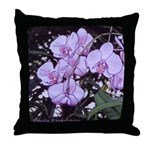Pink phalaenopsis Throw Pillow