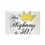50th birthday gifts women Rectangle Magnet