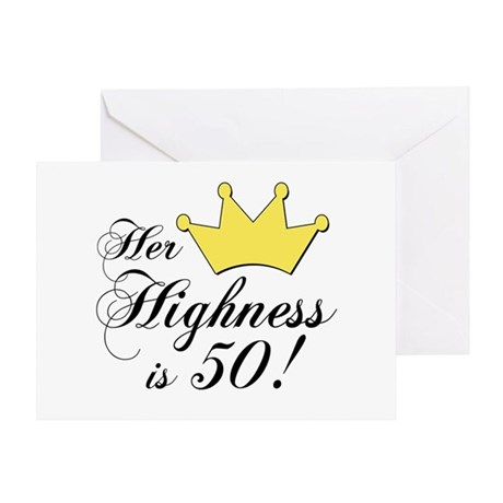 50th birthday gifts women Greeting Card