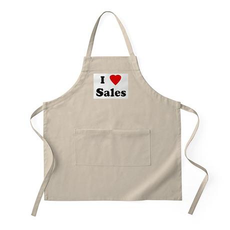I Love Sales BBQ Apron