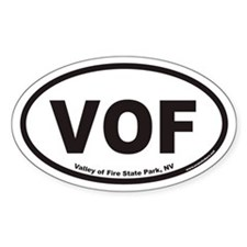 Valley of Fire State Park VOF Euro Oval Decal