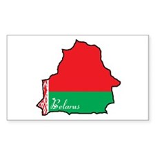 Cool Belarus Rectangle Decal