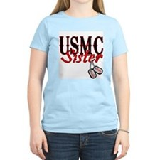 USMC Dog Tag Sister T-Shirt