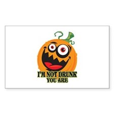 Drunk Pumpkin Rectangle Decal