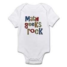 Math Geeks Rock Nerd Humor Infant Bodysuit