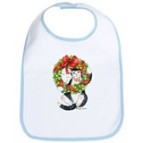 Cool Cats black and white Bib