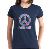 Flower Power Peace Sign Tee