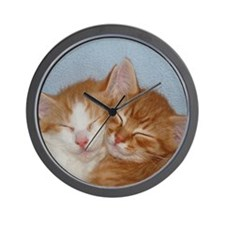 Kitten Friends Wall Clock