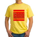 Season Greetings Tristar Ribb Yellow T-Shirt