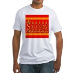 Season Greetings Tristar Ribb Fitted T-Shirt