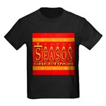 Season Greetings Tristar Ribb Kids Dark T-Shirt