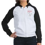 STUNTS WITH DRINK Women's Raglan Hoodie
