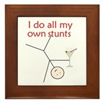 STUNTS WITH DRINK Framed Tile