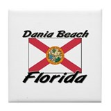 Dania Beach Florida Tile Coaster