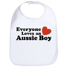 Everyone Loves an Aussie Boy Bib