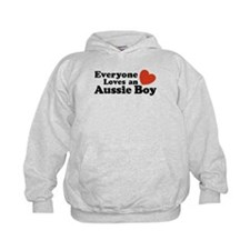 Everyone Loves an Aussie Boy Hoodie