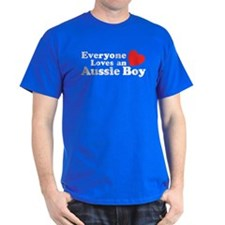 Everyone Loves an Aussie Boy T-Shirt