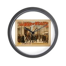 The War of Wealth Wall Clock