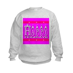 Happy Holidays Cyan Kids Sweatshirt