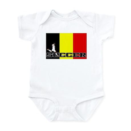 Belgium Flag Soccer Infant Bodysuit