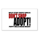 Don't Shop, Adopt - Rectangle Decal