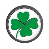St. Patrick's Day Shamrock Wall Clock