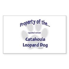 Catahoula Property Rectangle Decal