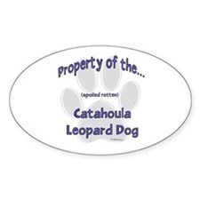 Catahoula Property Oval Decal