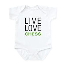 Live Love Chess Infant Bodysuit