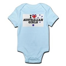 I Love Australian Girls Infant Bodysuit