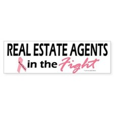 Real Estate Agents In The Fight Bumper Bumper Sticker