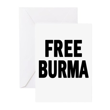 FREE BURMA (Myanmar) Greeting Cards (Pk of 10)