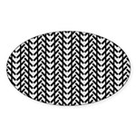 Optical Illusion Oval Sticker