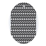 Optical Illusion Oval Ornament