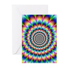 Optical Illusion 2 Greeting Cards (Pk of 20)