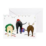 Labrador retriever christmas Greeting Cards (20 Pack)