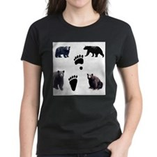 Black Bears and Tracks Tee