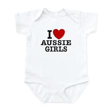 I Love Aussie Girls Infant Bodysuit